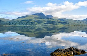 Loch Scridain with Ben more reflections