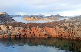 Red granite outcrop Balfours Bay